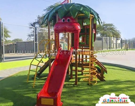 juegos para parque infantil octogonal safari