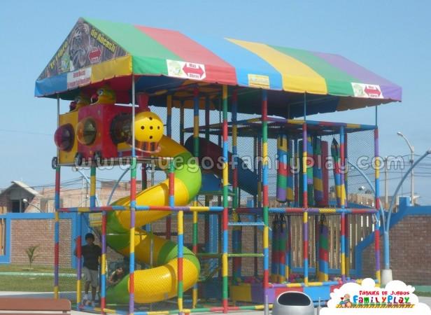 playground laberinto juegos polleria tren