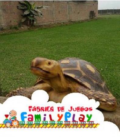 escultura tortuga de, fibra de vidrio