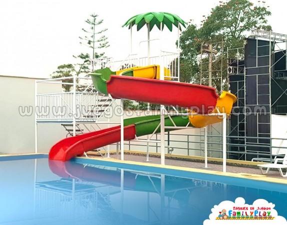 Tobogan para piscina Modelo Palmera