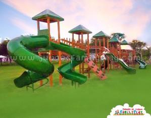 juegos para parques modelo 5 torres madera