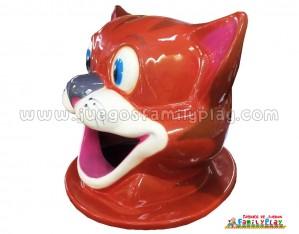 Cabeza Papelera Gato