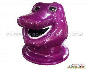Cabeza Papelera Barney