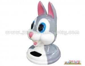 Cabeza Papelera Conejo
