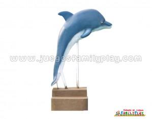 Escultura de Delfin de Fibra de Vidrio