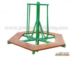 juego giratorio para parques - con asiento