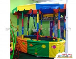 Cama Elastica Para Niños,-Ovalada 3mts x 2 mts