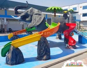 Tobogán para piscina Modelo Elefante